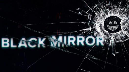 Poster image for Black Mirror Season 4 that looks like a cracked phone screen