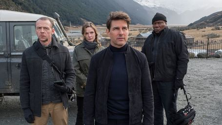 Tom Cruise, Simon Pegg, Ving Rhames and Rebecca Ferguson in Mission Impossible 6