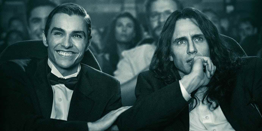 The Disaster Artist stars: Dave Franco as Greg Sestero, and James Franco as Tommy Wiseau
